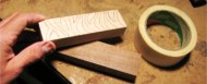 contrasting wood knife handles